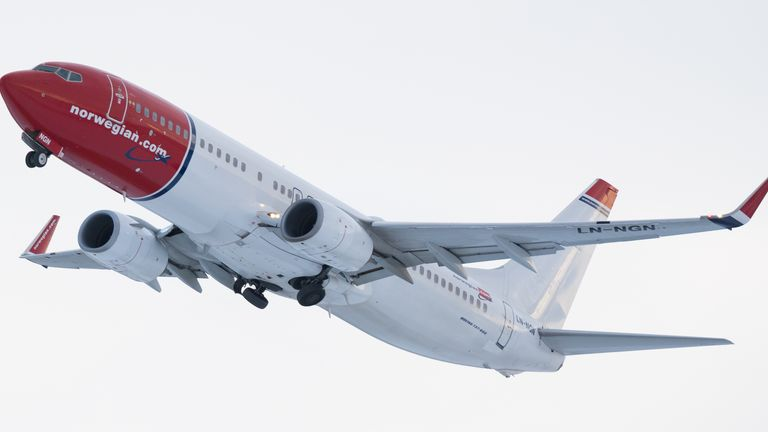 A Norwegian Air flight