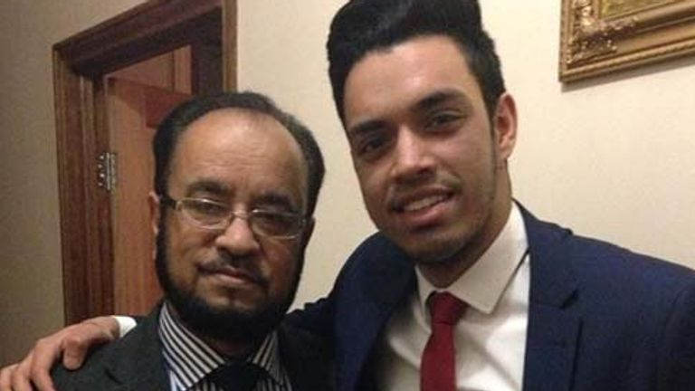 Omar Islam and his father Rouful