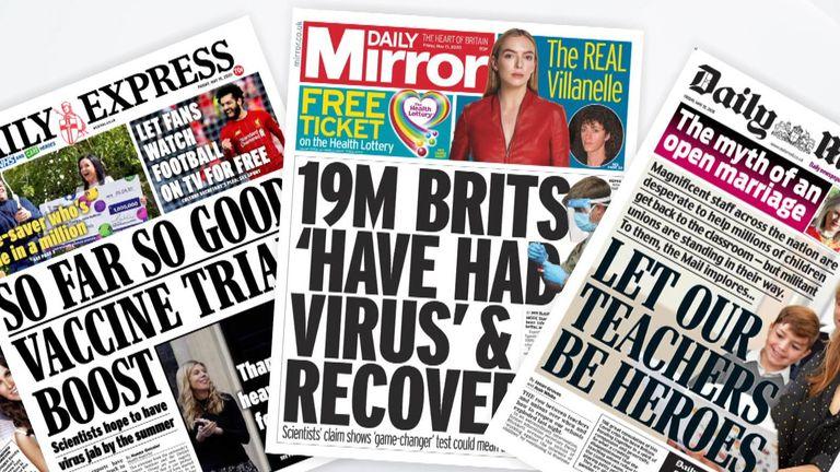 Paper headlines - 14/05/20