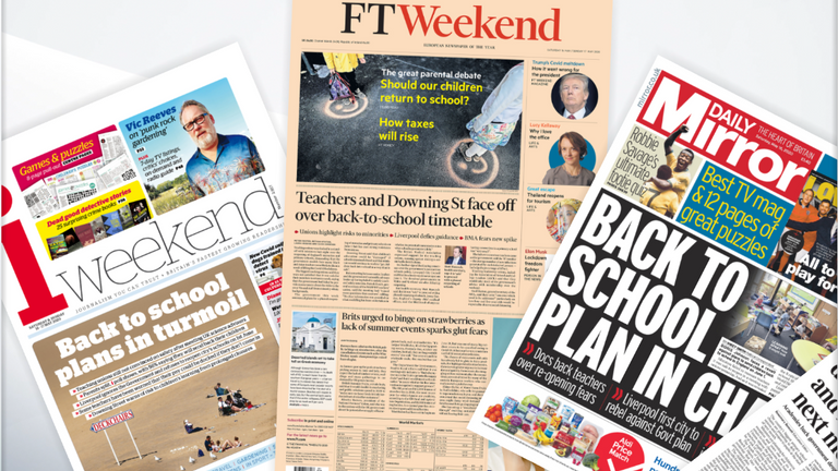 FRONT PAGES 16/05