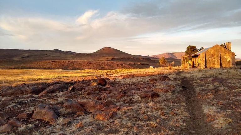 The remote horse ranch in the foothills of the Andes, in Patagonia, where Annabel Symes was staying