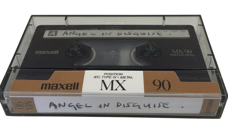 Undated handout image issued by Omega Auctions showing a tape of an unheard composition by Paul McCartney and Ringo Starr that is up for auction