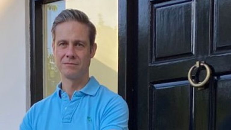 Dr Ben Noble is pictured outside his house in Attenborough, East Midlands, where four packages were stolen