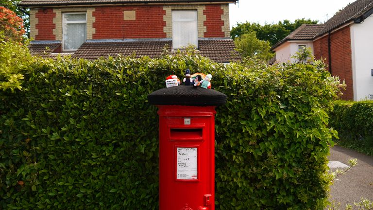 The post boxes are dotted around the village. Pic: Ben South