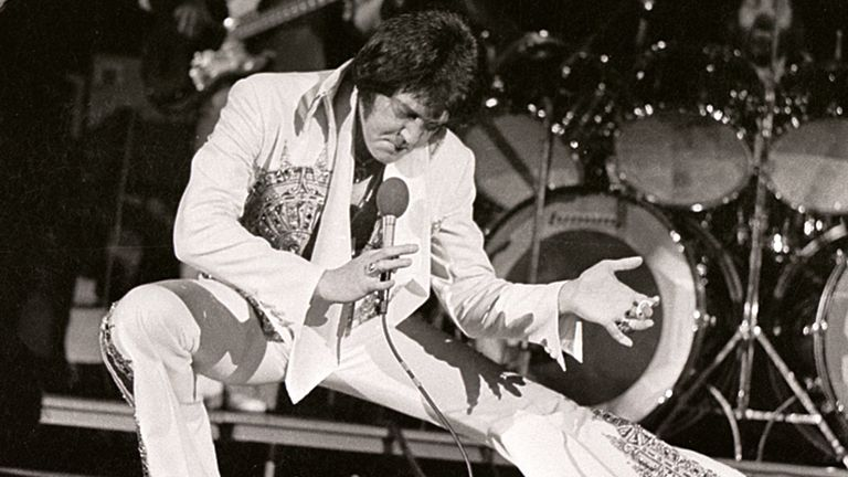 Elvis on stage in 1977