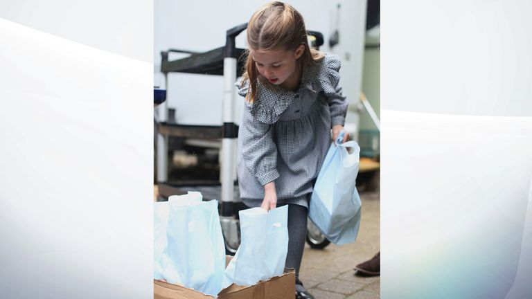 Charlotte has helped delivering food to those in need during the coronavirus lockdown