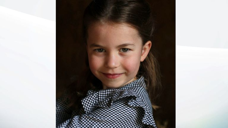 The pictures were captured by her mother, the Duchess of Cambridge