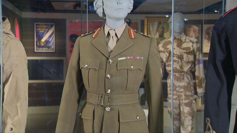 The uniform worn by Princess Elizabeth