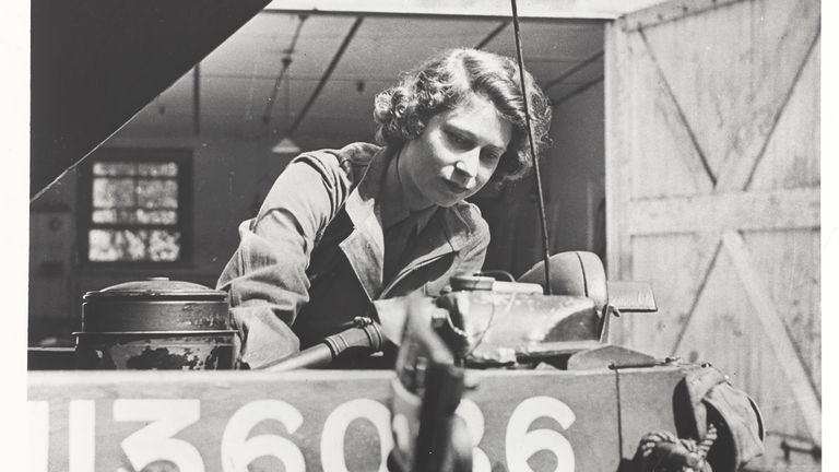 Princess Elizabeth was 'insistent' on joining. Pic: National Army Museum