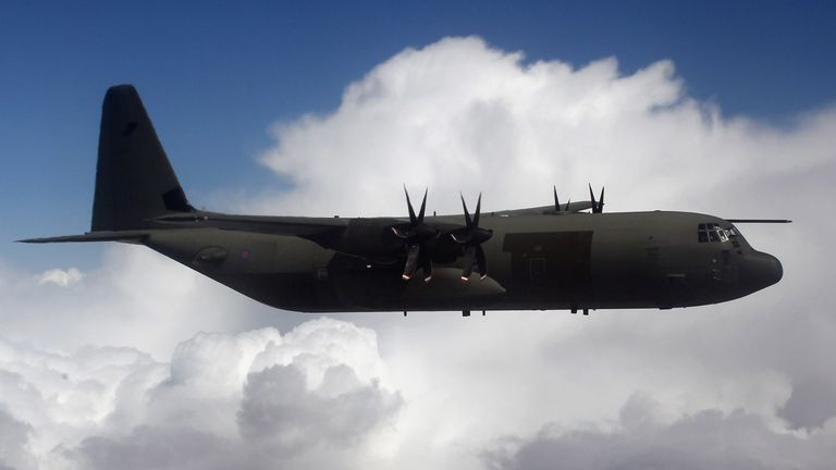 One of the aircraft the pilots would fly is the C-130 transport