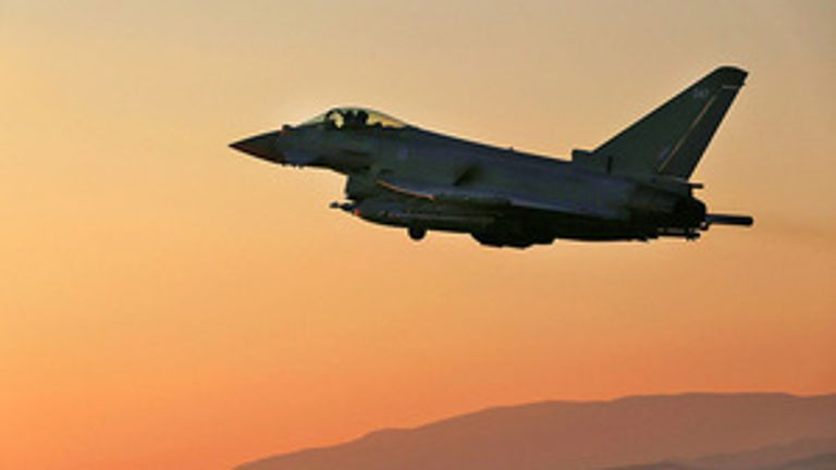 Two RAF Typhoons bombed the caves in Iraq where Islamic State terrorists were based