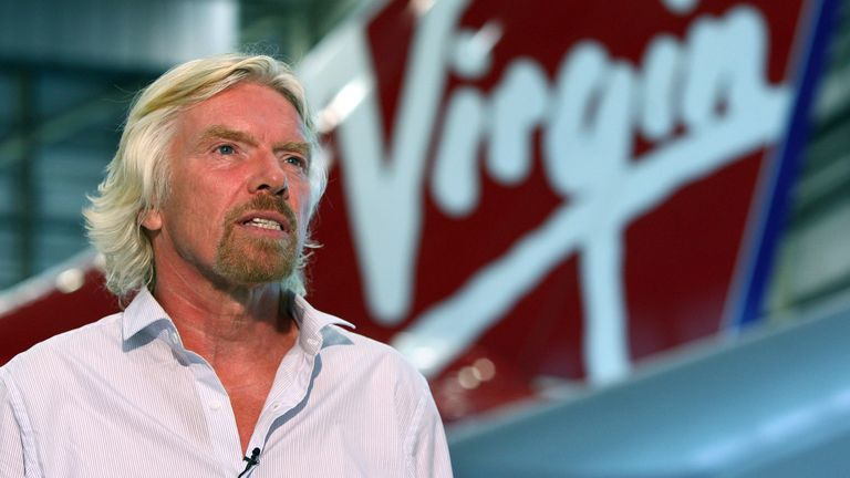 Virgin Atlantic boss Sir Richard Branson