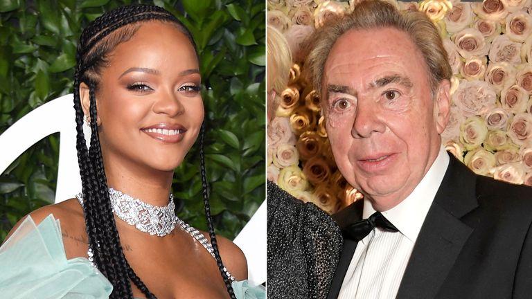 Rihanna and Sir Andrew Lloyd Webber