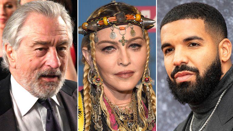 Robert De Niro, Madonna and Drake