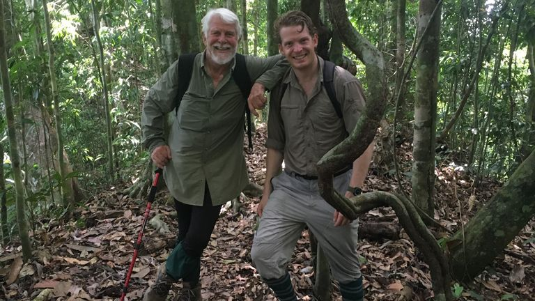 Robin continues to explore the world, here with his son Merlin in Borneo