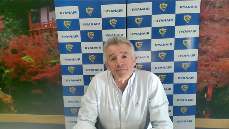 CEO of Ryanair Michael O'Leary.