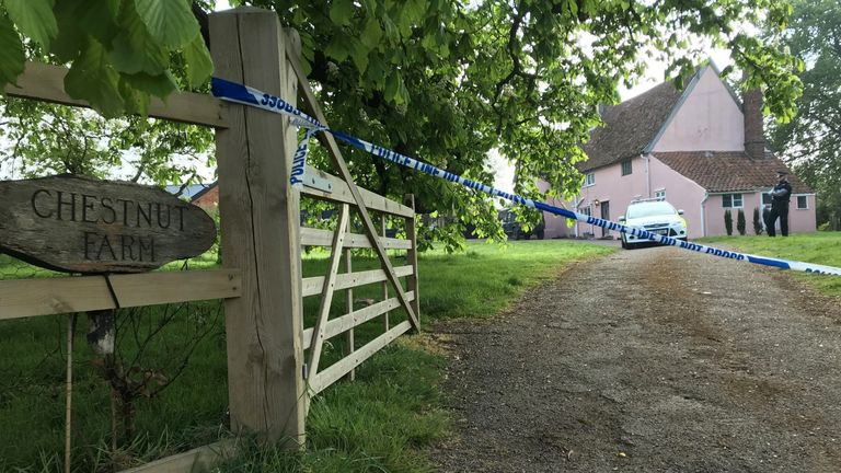 A 51-year-old man was arrested after Mrs Hartshorne-Jones was shot in this house