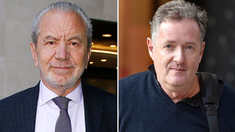 Sir Alan Sugar and Piers Morgan