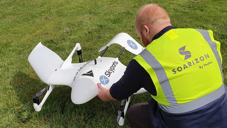 The drones will be flown from Oban to the Isle of Mull