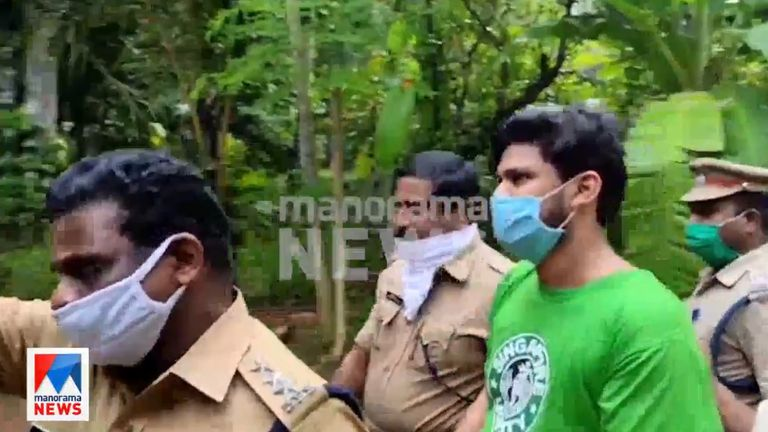 Sooraj, pictured here in a green top, is accused of murder. Pic: Manorama