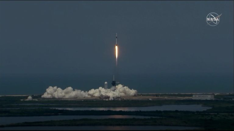 SpaceX successful launch carrying two astronauts
