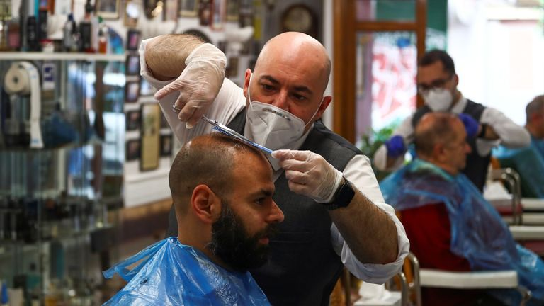Hairdressers in Spain have reopened