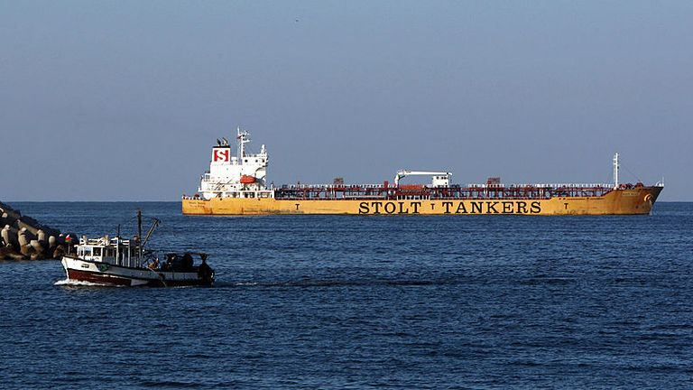 A UK-flagged Stolt Tanker was attacked by pirates on Sunday. File photo.