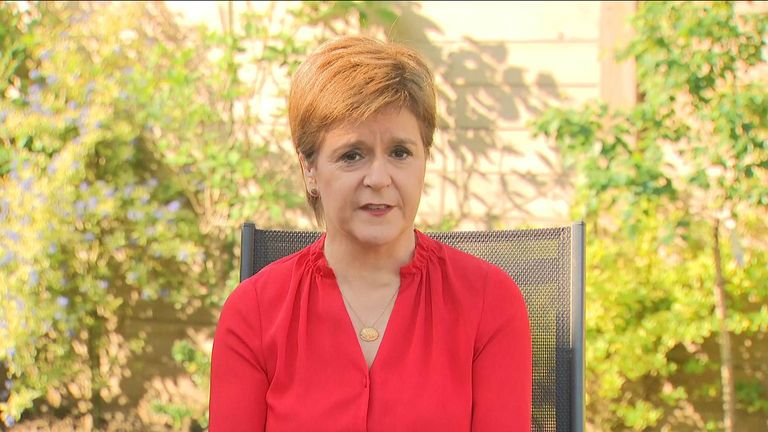 Nicola Sturgeon spoke about the tension between politicians and scientists in terms of accountability over coronavirus messaging.