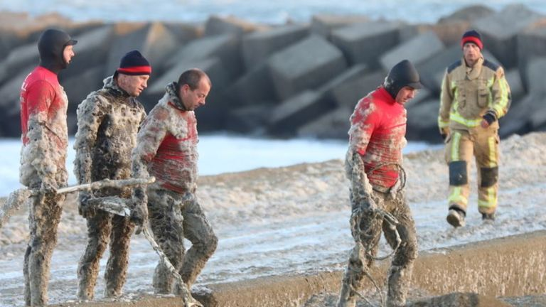 The search operation was hampered by a thick layer of foam