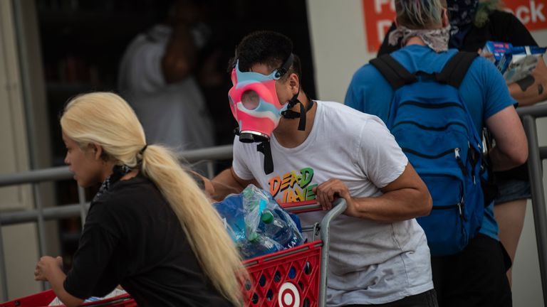 A Target store in Minneapolis is looted during protests