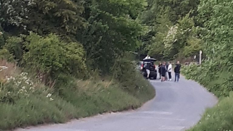 West Mercia Police took photos of some of the group leaving. Pic: TelfordCops/Twitter