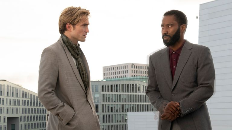 Robert Pattinson and John David Washington in Tenet. Pic: ©2020 Warner Bros Entertainment, Inc
