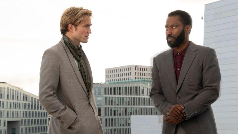 Robert Pattinson and John David Washington in Tenet. Pic: ©2020 Warner Bros Entertainment, Inc