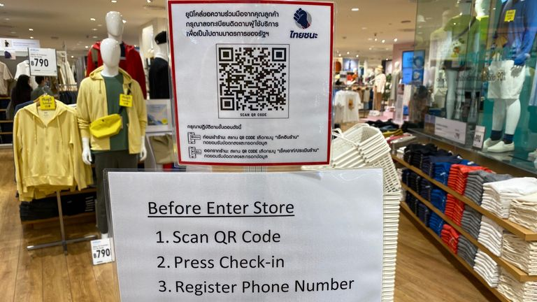 Shopping malls have reopened in Thailand with new safety measures