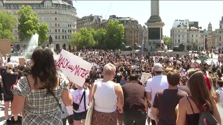 Protests against racism in London
