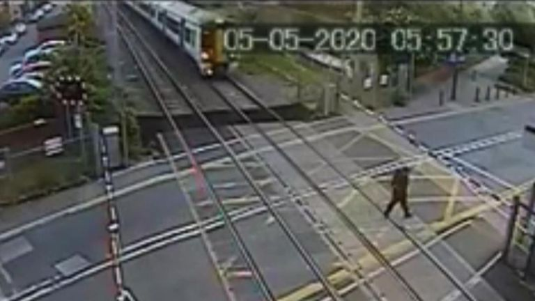 British Transport Police have issued a fresh warning about level crossing safety following a concerning near miss in London.