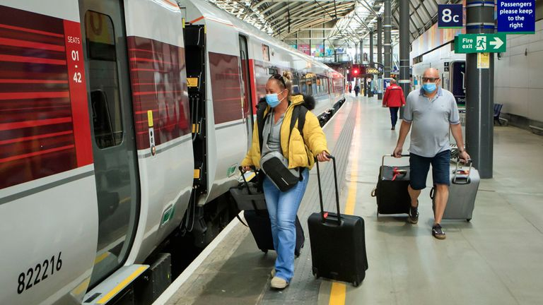 Leeds station was not busy, despite an increase in services