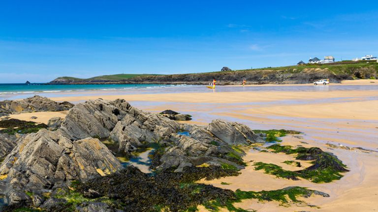 A man was pulled from the sea at Treyarnon Bay
