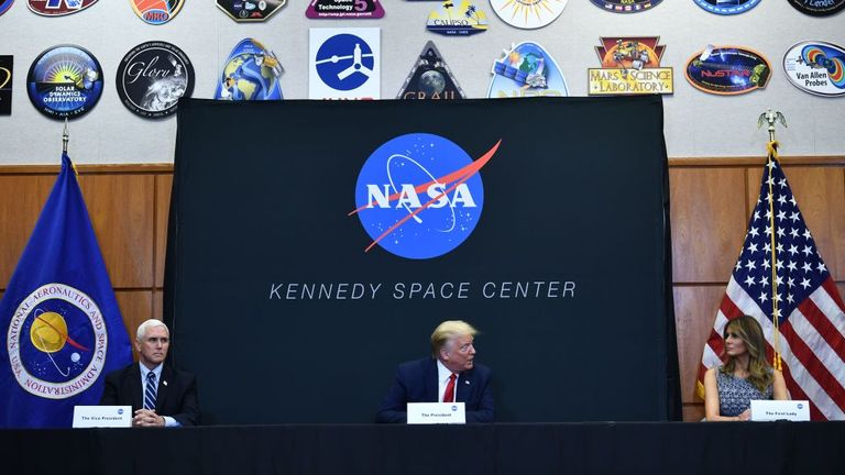 President Trump flew to Florida to watch the launch
