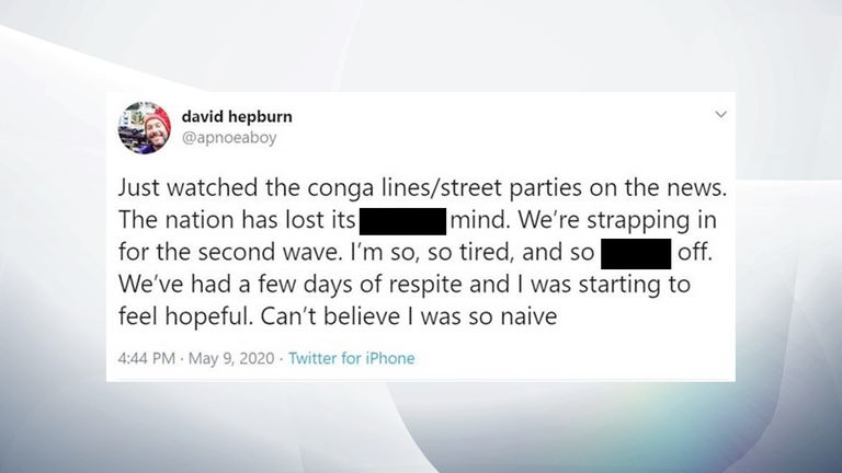 Intensive care consultant David Hepburn shared his anger on Twitter