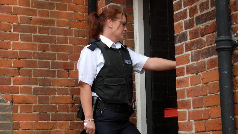 Police officers have been visiting the homes of violent criminals. File pic