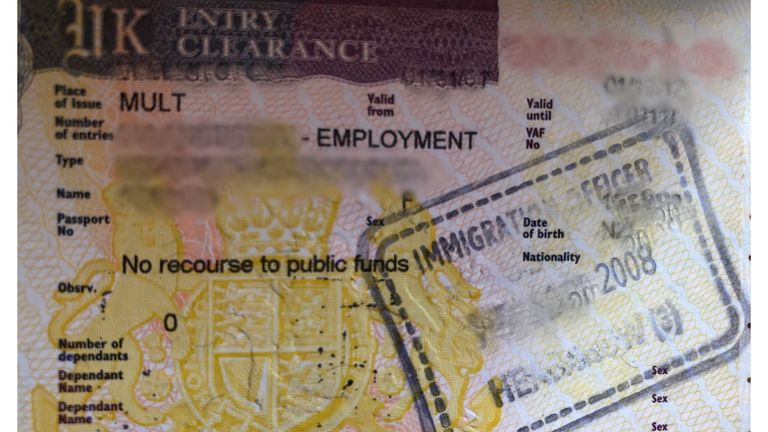 How UK visas state someone has 'no recourse to public funds'