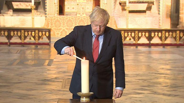PM Boris Johnson commemorates VE Day