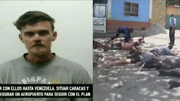 Venezuelan state television broadcast a video of captured American Luke Denman as footage emerged of the alleged arrest