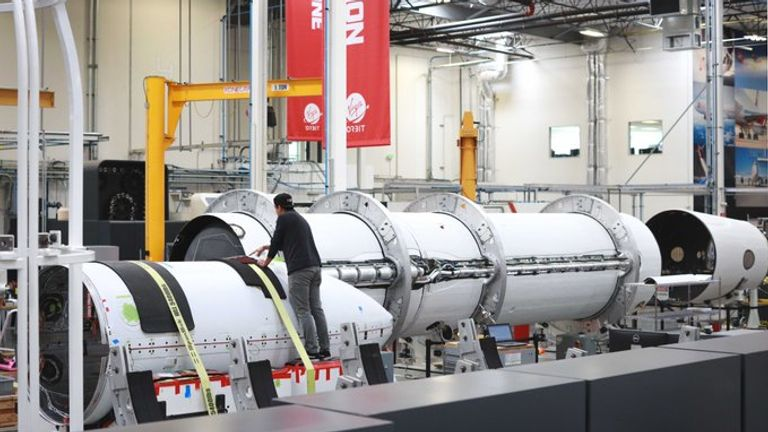 Virgin Orbit said its next rocket is ready for testing and to then hopefully be propelled into space. Pic: Virgin Orbit
