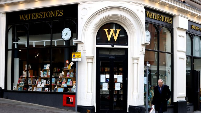 A Waterstones store in Nottingham at start of lockdown 23/3/2020