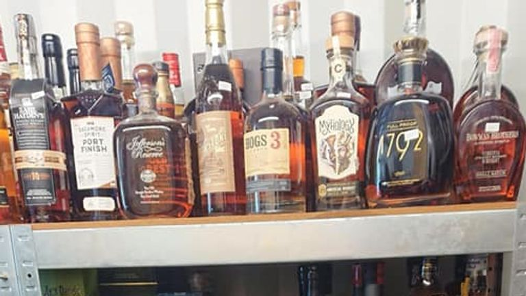 The collection included rare spirits from all over the world