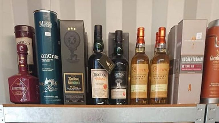 One bottle of whisky was given to the owner by his father on his 12th birthday