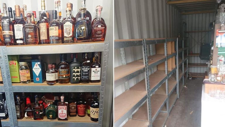 Thieves broke in overnight on World Whiskey Day - 16 May