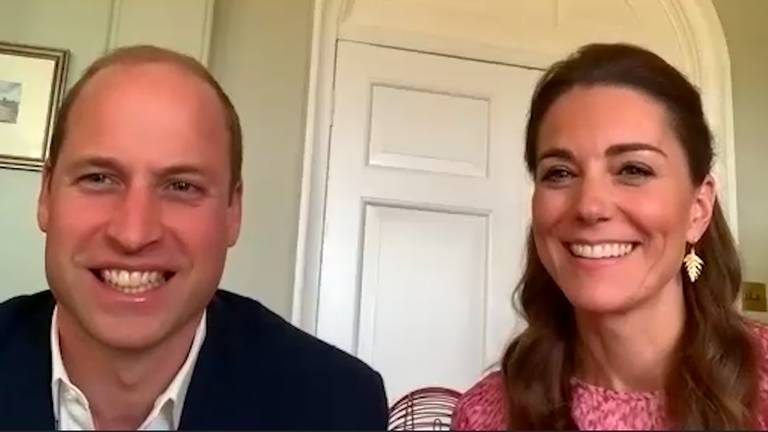 William and Kate virtually dropped into to a care home in Wales. Pic: Kensington Palace